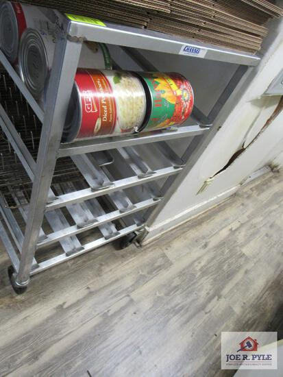 Stainless steel 72 can holder approx. 42 inches long 26 inches wide 35 inches wide W worktop table