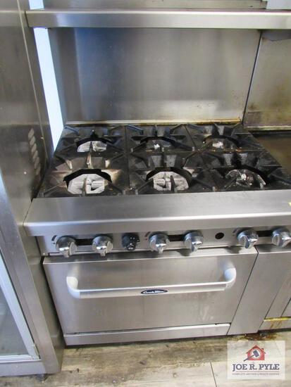 Cook rite 6 burner gas stove 36 inches approx. w oven
