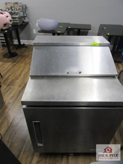 Edesa cold prep table approx. 27 inches wide, 30 inches deep, 40 inches tall