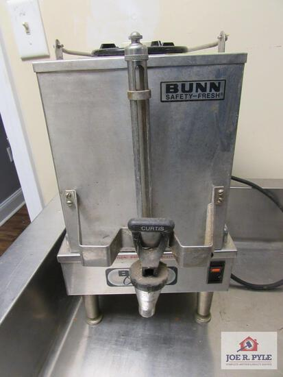 Bunn safety fresh coffee pot w warmer 2 gallon