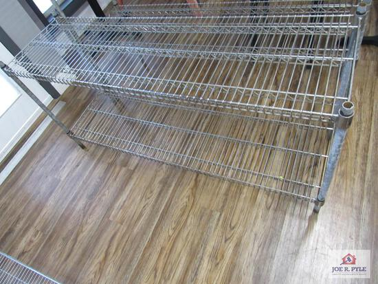 2 tier stainless shelve 5 ft long 18 inches deep