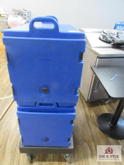 2 BLUE Cambro w cart