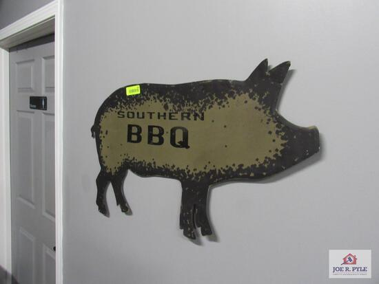 southern barbeque pig sign