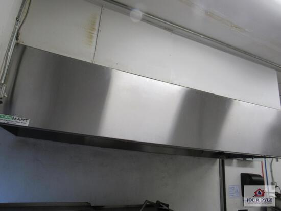 Hoodmart 10 ft Hood with return air and ansul system (this item cannot be shipped, buyer must