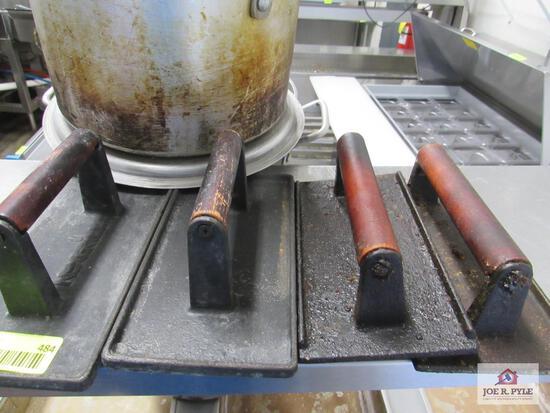 cast iron grill presses