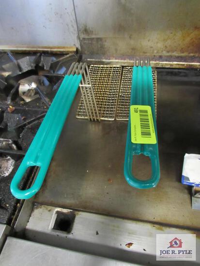 2 deep fryer accessories green handle