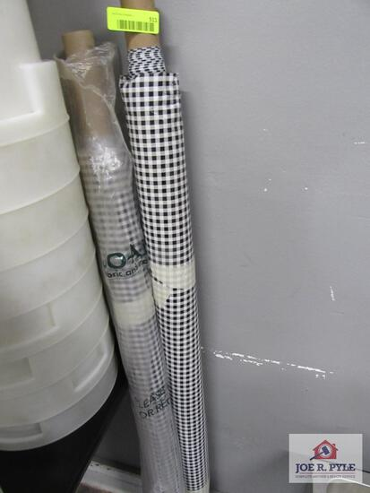 2 rolls of oil cloth table cloth checkered pattern