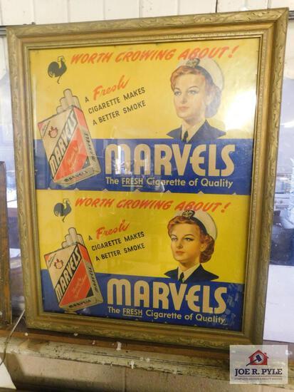 Vintage Marvel, cigarette ad