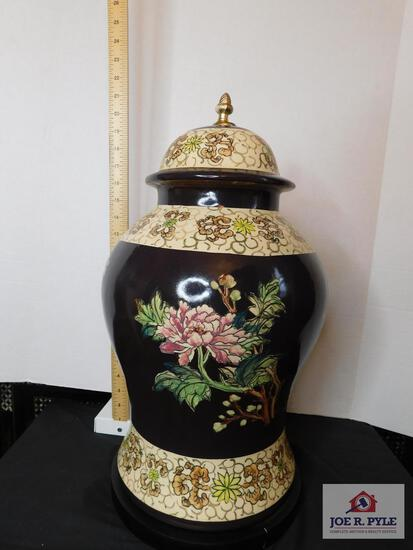 Ceramic hand-painted decorative item