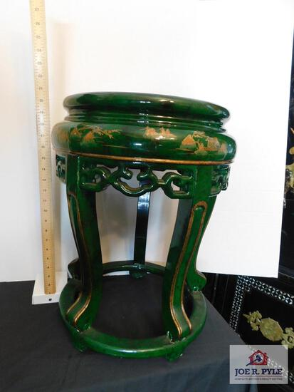 Gold decorated carved oriental table