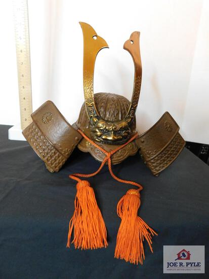 Copper & brass decorative Samurai helmet