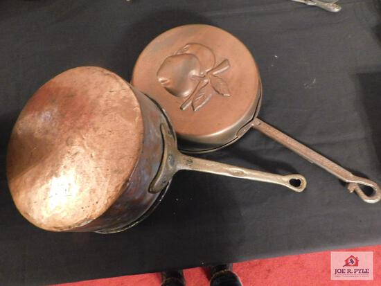 Brass and copper cooking pan and decorative pan