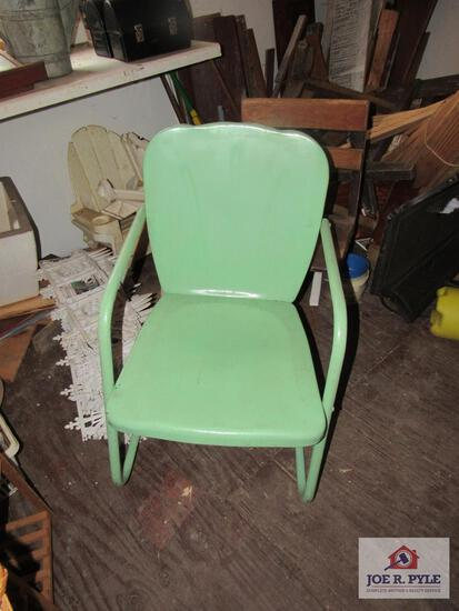 vintage green outdoor chair