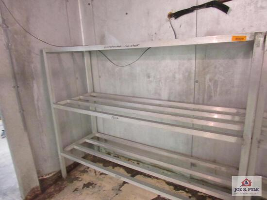 aluminum shelving approx. 24 inches wide, 60 inches tall, 72 inches long