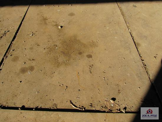 steel plate 57 inches wide x 208 inches long x 1/8 thick