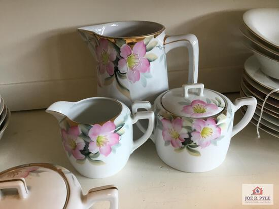 Noritake Azalea: Pitcher and Creamer and Sugar