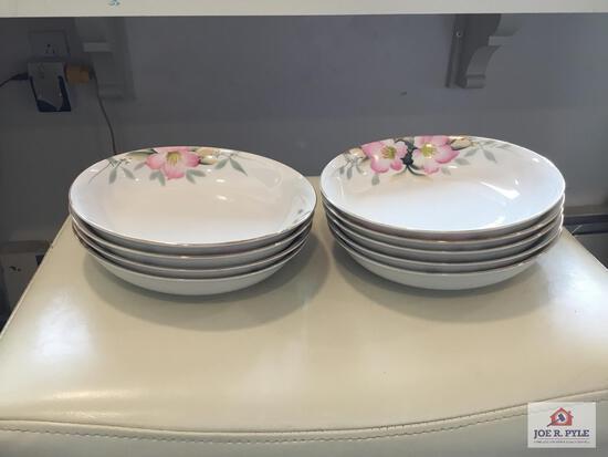 Noritake Azalea: 9 bowls