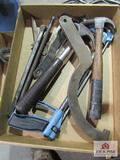 Flat of Misc. Tools, Hammers, Chisels