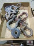flat of misc. clevis an wire puller