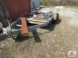 14 ft utility trailer w ramps/ VIN# 108577