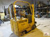 yellow yale fork truck w charger (electric) (CANNOT PICKUP UNTIL AFTER SATURDAY APRIL 4TH @ 2PM)