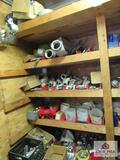 Approximately 8ft Shelf of Conduit Fittings