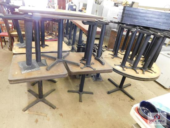 8 Tables w/extra tops & legs