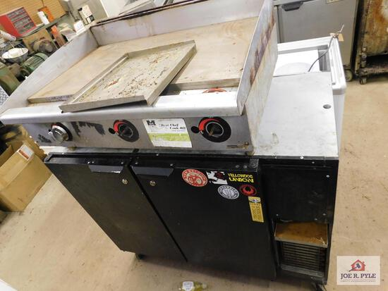 """Flat top grill 36"""" x 27.5"""" and rolling cooler 47"""" x 24"""""""