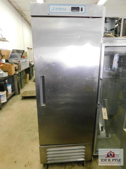 "Edesa commercial refrigerator 82"" x 26"""