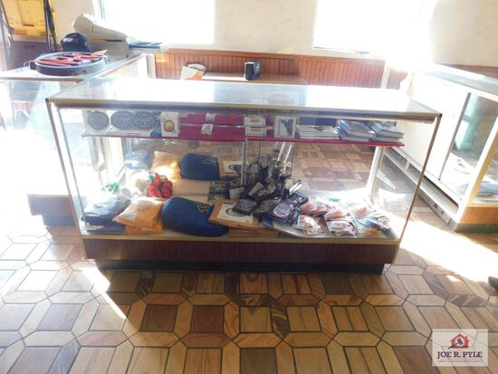 WVU ear muffs, blankets and coasters display case not included