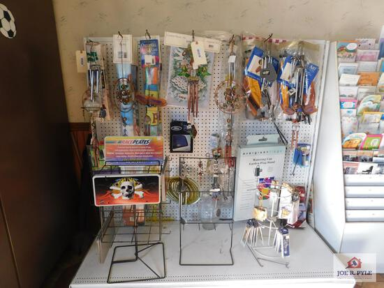 Flags, wind chimes, necklaces and key chains