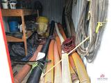 Contents of storage container: suction hose, misc. hoses & fans