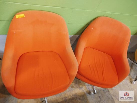 2 Vintage Virco chairs w wheels