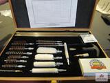 Gun Cleaning Kit In Wooden Box