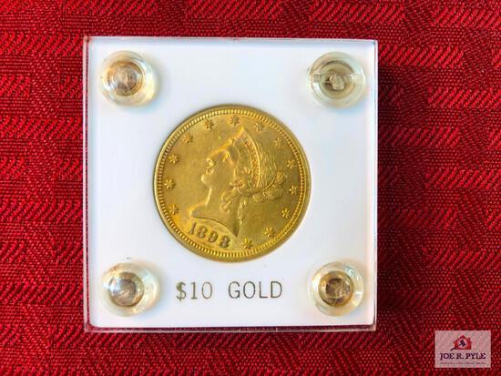 (44) 1898 US $10 Liberty Gold Coin  