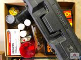 (157) Lot of sporting good items- stock finish kit, tru-oil, large rifle primers, etc.