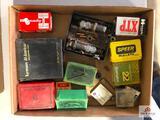 (161) Reloading items: Lyman .243 WIN die, misc. bullets, etc.