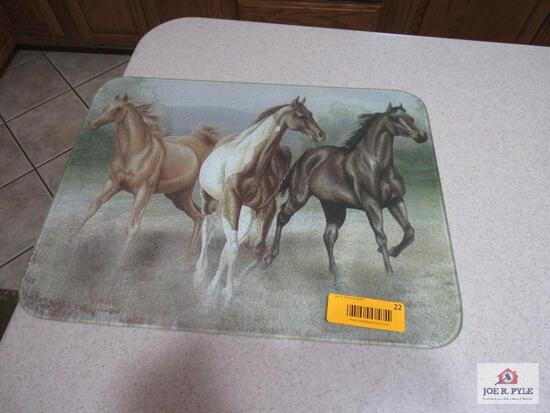 Horse Glass Cutting Board