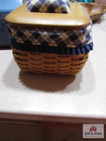 Longaberger Basket Blue Ribbon Mending Basket 2004