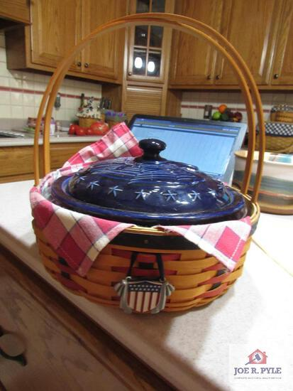 Longaberger Basket All American Collection Casserole Basket 2002