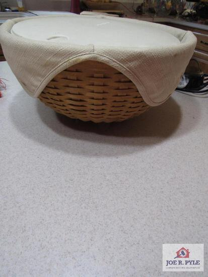 "Longaberger Basket 13"" Hostess Bowl Basket #10722 2004"