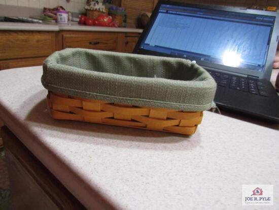 Longaberger Basket Loaf Sage Basket 2002