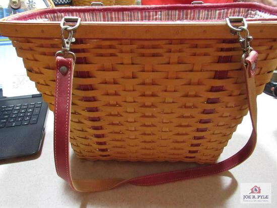 Longaberger Basket Mother Day Weekend Tote 2004