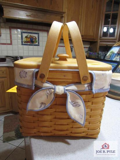 Longaberger Basket Beachcomber Basket #15342 1999