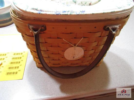 Longaberger Basket Medium Good Or Summertime Boardwalk Basket 2001