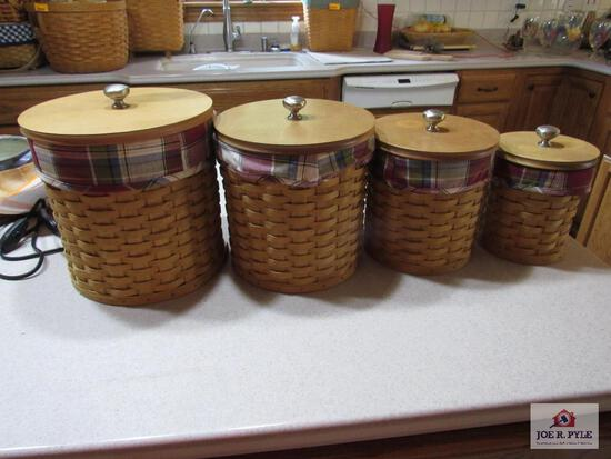 Longaberger Basket Canister Set Of 4 2003