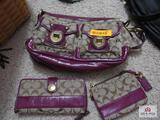 Coach Purse With Change Purse And Check Book Cover
