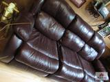 Ashley leather couch with recliners on both ends