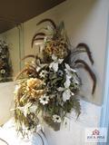 wall hanging floral arrangement