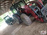 2009 Massey Ferguson 4709 with front end loader with bucket with cab heat and air 4x4 with 4 wet